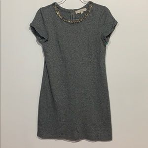 Loft tee shirt style dress size small, beaded neck